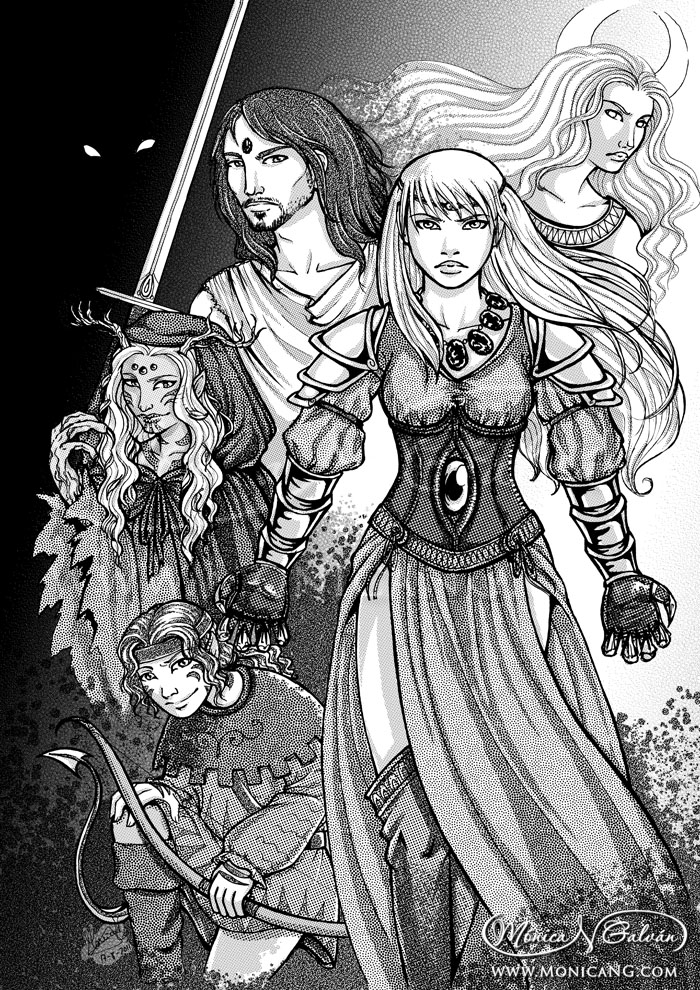 Moonslayer – Intro Screentones
