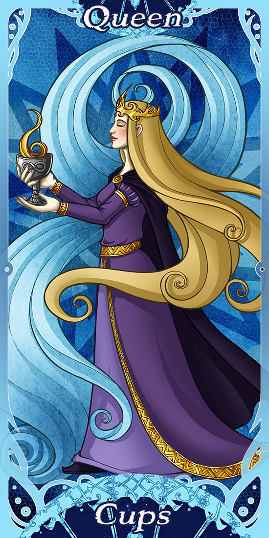 Iris –  The Queen of Cups (card)