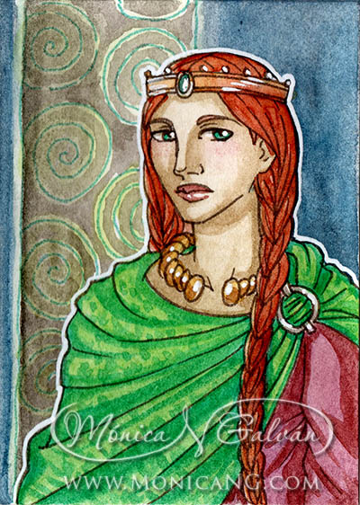 Celtic Queen - Quick ACEO