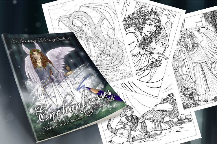 Enchantresses and Fair Folk: Fantasy Coloring Book ⋆ Monica N ...