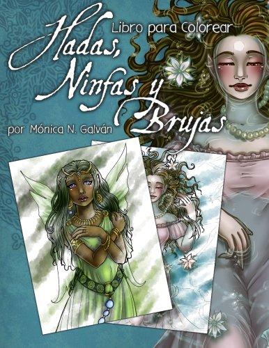 Hadas, ninfas y brujas. Libro para colorear.