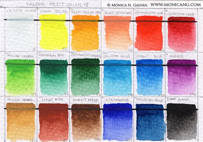 Sakura KOI Petit Color 18 chart