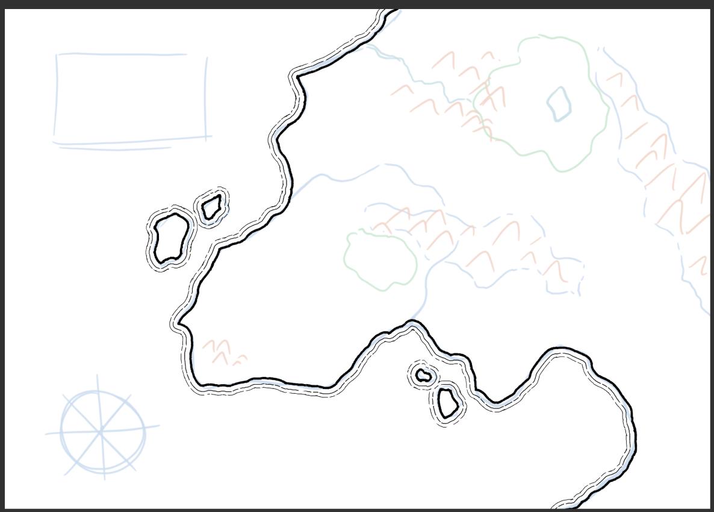 Mapa de fantasía - Paso 1