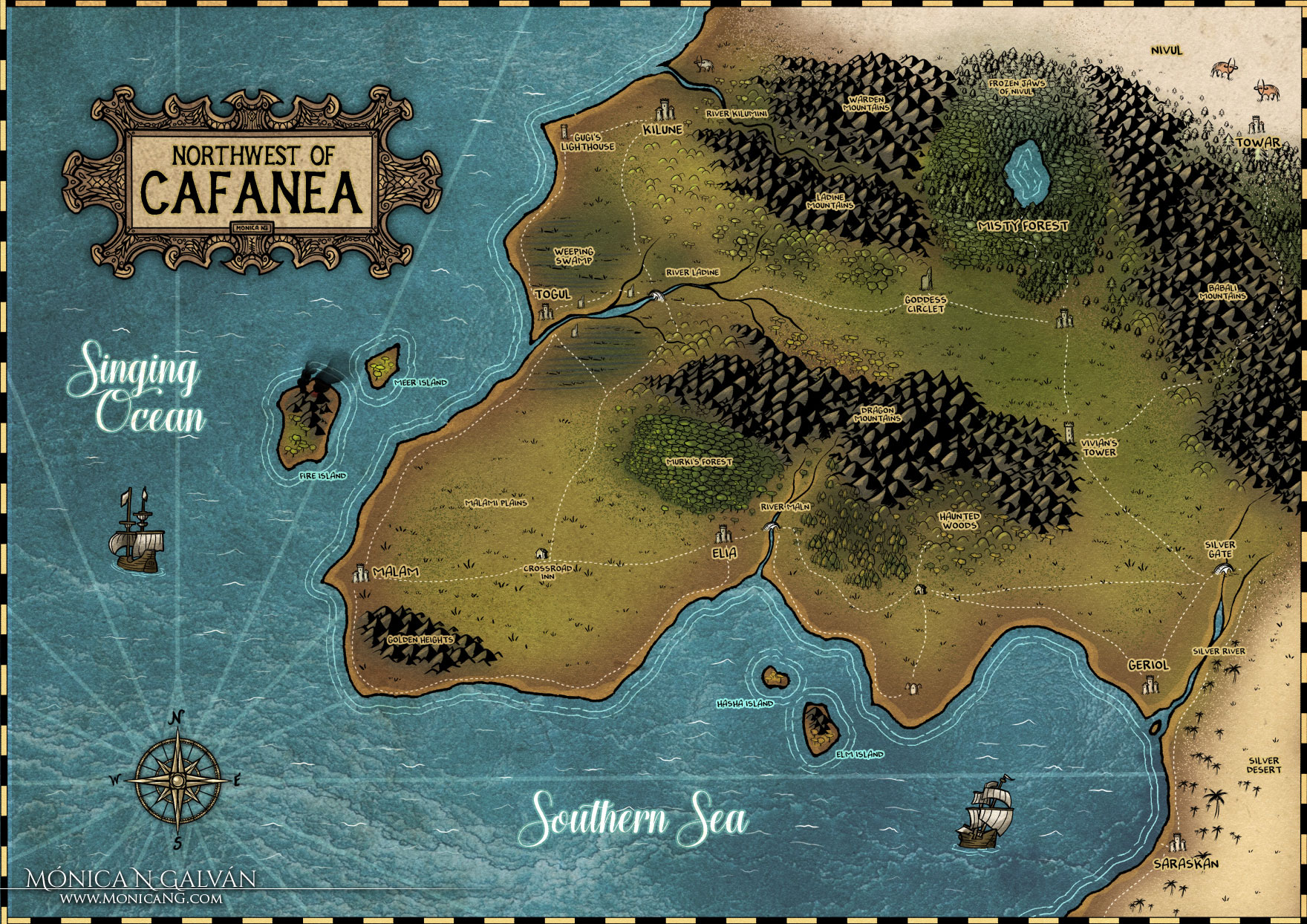 Fantasy Map: Northwest of Cafanea