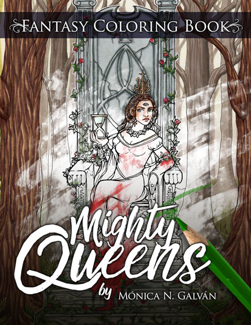 Mighty Queens: Fantasy Coloring Book