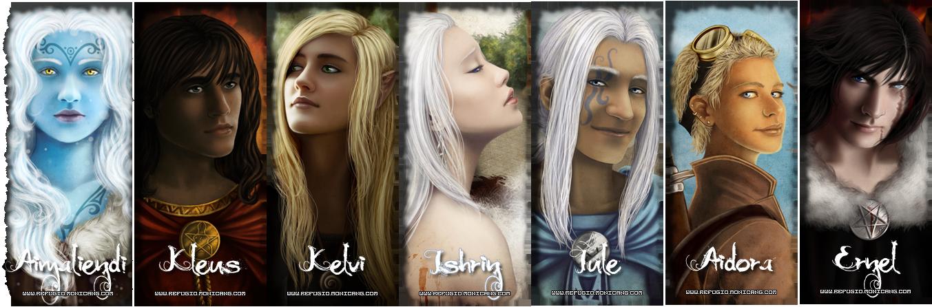Los personajes del primer libro