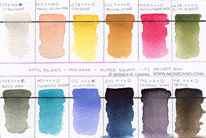 Gama de colores en papel