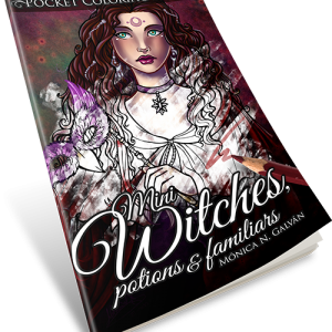 Mini Witches, Potions and Familiars: Pocket Coloring Book