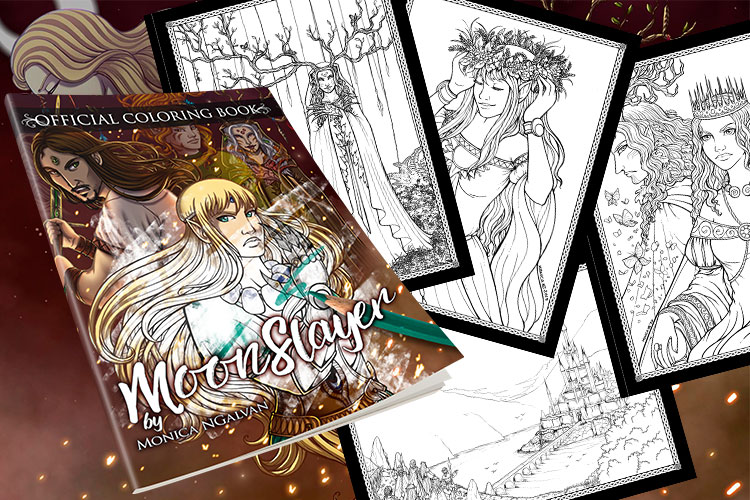 MoonSlayer: Official Coloring Book